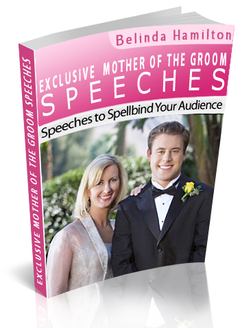 Mother of the Groom Speech book
